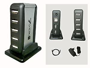 MULTIPRISE USB (HUB) - 1 Entrée/7 Sorties - Avec Alimentation externe