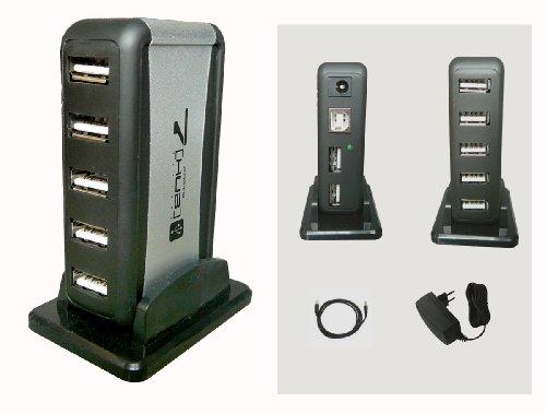 MULTIPRISE USB (HUB) - 1 Entrée / 7 Sorties - Avec Alimentation externe