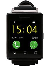 Water Resistant Bluetooth Pulsera Inteligente, 1.54 pouces Smart Watch con Ritmo Cardiaco Monitor/ Pantalla Táctil/ Cámara Remota/ Monitor de Sueño/ Contador De Pasos/Reloj Para IOS 7.0, Android 4.3+ System (Negro)