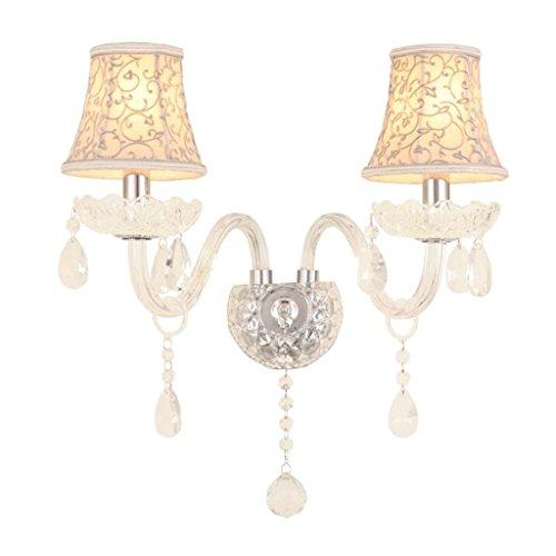 GAODUZI Cristal Mur Lumière Salon Mur Lumière LED Bougie Chambre Chevet Lampe Allée E14 ( taille : 33cm )