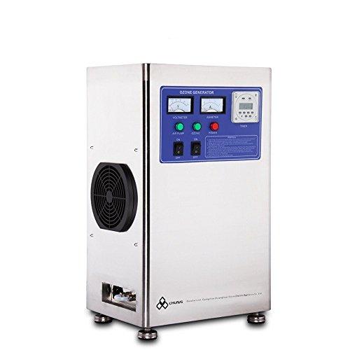 cgoldenwall optional 3?G/H 6?g/h 12?g/h Zuhause Ozon-Generator Ozon Maschine Luft Wasser Desinfektion Ozonator f?r Lebensmittel- und Pharma Factory Schwimmbad Wasser Behandlung - 12g/H -