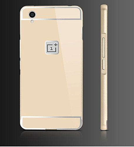 Shopizone Hard Aluminium Bumper Acrylic Back Case Cover for One Plus X / OnePlus X- Golden
