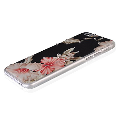 UKDANDANWEI Apple iPhone 6 Hülle Case - Bling Strass Ultra Dünn Hart PC Hülle Glitzer Rückseite Slim Etui Schale für Apple iPhone 6 -26 Bling-09