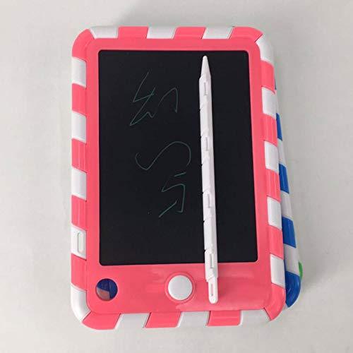 Preisvergleich Produktbild OOYCYOO LCD Schreibtafel 4'' mit Anti-Clearance Funktion und Dicke Linien, Magnete, String, Stift Papierlos für Schreiben Malen Notizen Super als Geschenke (4'',  Rot)
