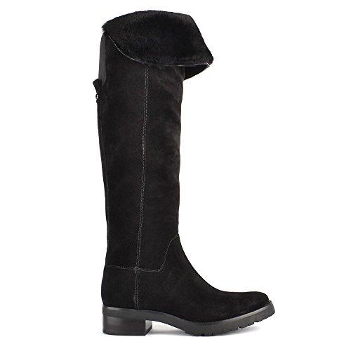 MICHAEL Michael Kors Whitaker Black Suede Tall Boot 39EU/6UK Black