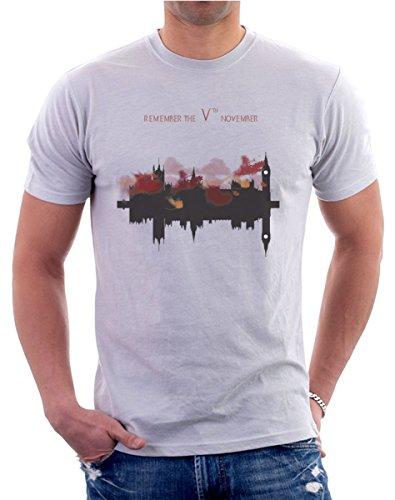 t-shirt - V per Vendetta - S M L XL XXL maglietta by tshirteria grigio