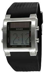 Shivas - D73251-001 - Montre Homme - Quartz Digital - Cadran Gris - Bracelet Caoutchouc Noir