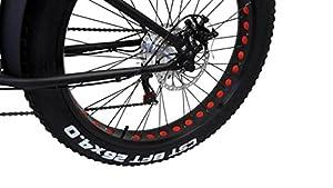 "Elektro FAT-BIKE 26"" / 66cm WEIß mit Shimano 6-Gang Elektrofahrrad Ebike Pedelec Elektro Mountainbike MTB Fahrrad Fat Tire Fette Räder"
