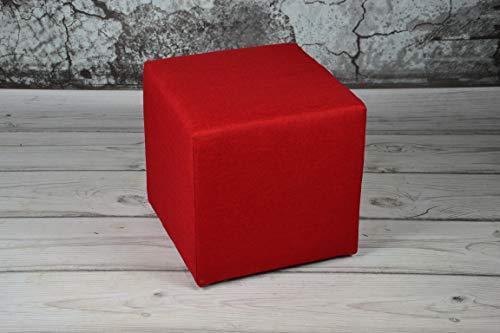 HG24 Asiento Taburete 40x 40x 40Sawana Rojo Asiento Cubo Taburet