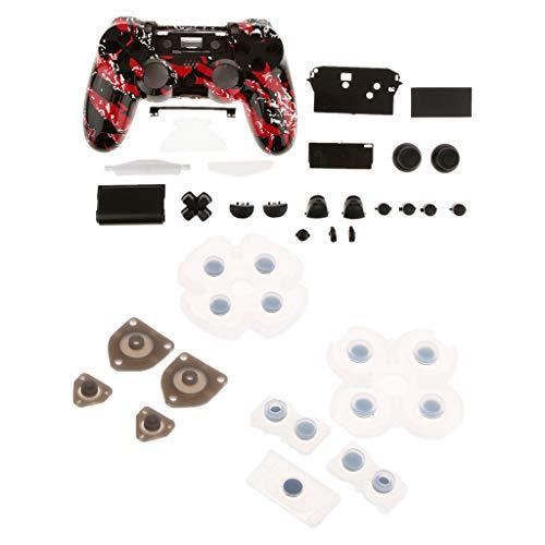 PPRETTYYIA Gehäuse des Controllers Gehäuse mit Tasten Mods Kits Komplett + Treiberpad für Sony Playstation 4 DualShock 4 (Sony Playstation Dualshock 4)