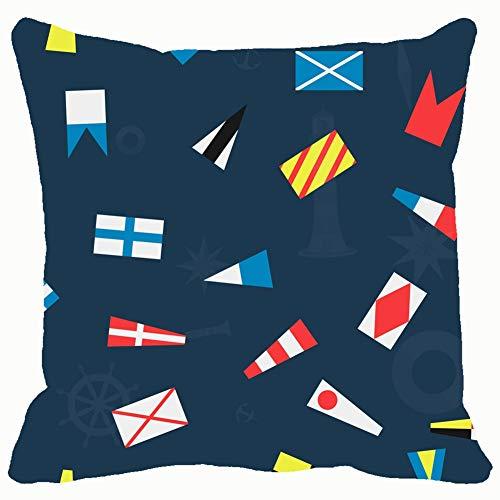 Qian Mu888 Fashion Decorative Pillowcase Seamless Nautical Flags Flag Signs Symbols Flag Signs Symbols 18 * 18IN