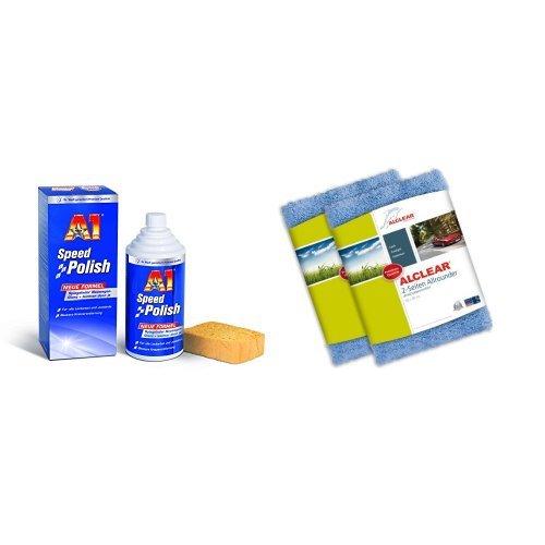 Preisvergleich Produktbild A1 Speed Polish, 2700, 500ml und ALCLEAR 2er Set 2-Seiten Allrounder 40x40 cm