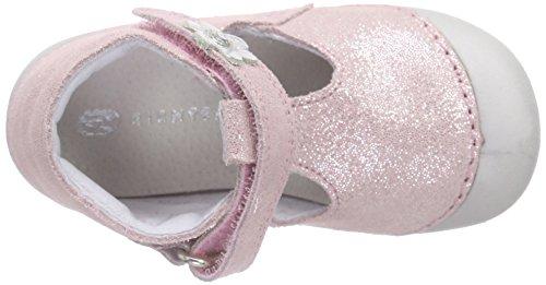 Richter Kinderschuhe Richie, Chaussons pour enfant bébé fille Rose - Pink (babypink/silver 1201)