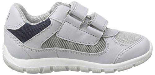 Geox B Shaax B, Chaussures de Naissance Mixte Bébé gris (LT GREY/NAVYC1297)