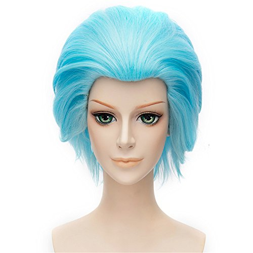 LanTing Cosplay Perücke The Seven Deadly Sins Ban Blue Perücke Corta Styled Frauen Cosplay Party Fashion Anime Human Costume Full wigs Synthetic Haar Heat Resistant (Sevens Einfach Kostüme)