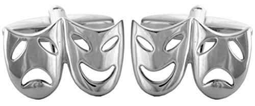 Fantaisie ouvert Théâtre masques Boutons de manchette