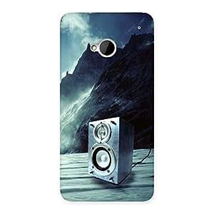 Impressive Speaker Of Snow Back Case Cover for HTC One M7