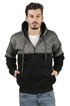 fanideazMen's Cotton Sweatshirts for Men_Black_S