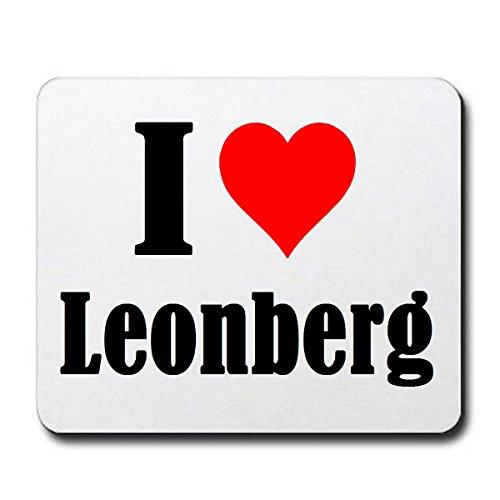 """Exklusive Geschenkidee: Mauspad """"I Love Leonberg"""" in Weiss, eine tolle Geschenkidee die von Herzen kommt- Rutschfestes Mousepad- Weihnachts Geschenktipp"""