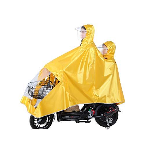 KANGSHENGRegenmantel Wasserdicht große regen cape mantel mobilität roller motorrad regenmantel regen abdeckung herren frauen elektrische fahrrad regenmantel (Color : Yellow) -