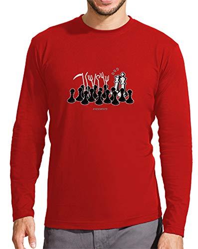 Camiseta Manga Larga Hombre Jaque Mate - Varios colores / Varias Tallas