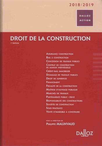 Droit de la construction 2018/2019 - 7e éd. par Philippe Malinvaud