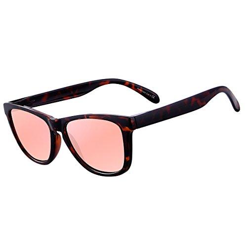 df2507b1d2 FEIDU Polarized Wayfarer Gafas de sol para hombre Classic Mirror Eyewear  Unisex.