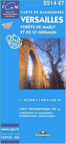 Carte de randonnée : Versailles - Forêt de Marly et de St-Germain par Cartes Top 25 IGN