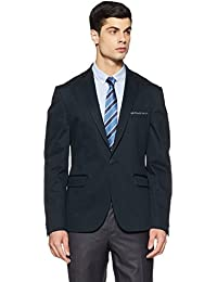 V Dot Men's Notch Lapel Slim Fit Blazer