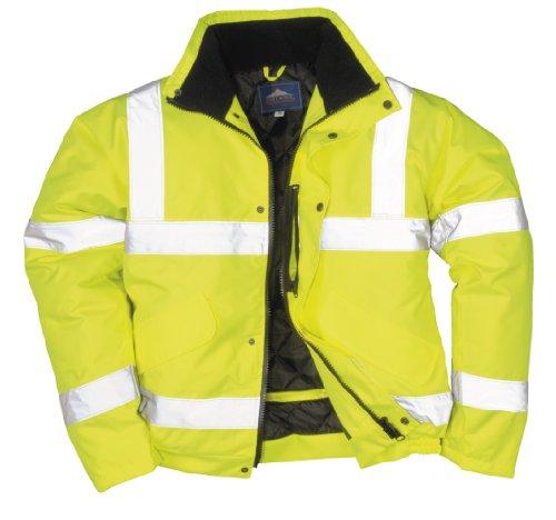 Portwest s463yerxl bomber alta visibilità, giallo, xl