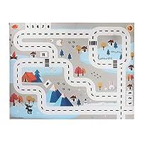 HULE Game Mat Kids,Children Play Mat Simulation Car Traffic Parking Map Puzzle Game Pad,Children Educational Toys