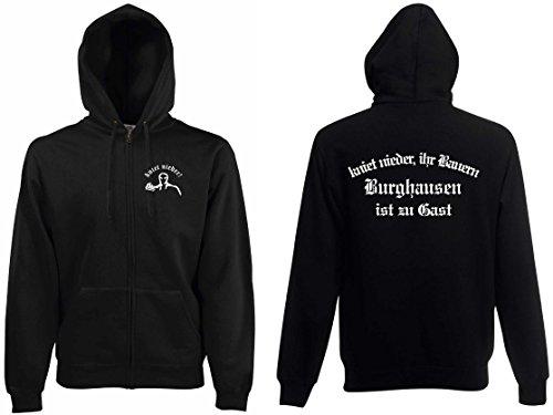 world-of-shirt Herren Kapuzenjacke Burghausen Ultras kniet nieder