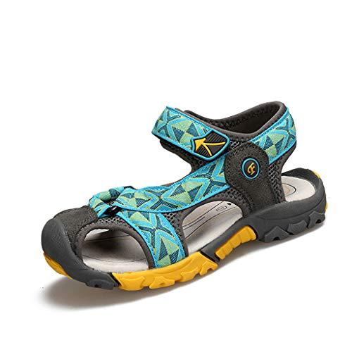 DIASTR Jungen Sport Outdoorschuhe Sandalen Sneaker Klett Soft Trekking Wanderschuhe Strandschuhe Flache Reitsportschuhe Sommer Aquaschuhe Sneaker Hallen Fitnessschuhe Laufschuhe