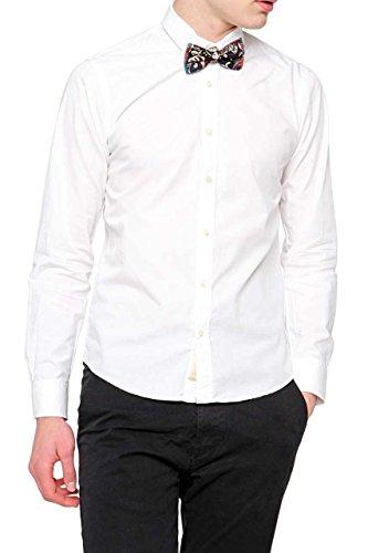 Scotch & Soda Camicia POPLIN SHIRT WITH BOW TIE, uomo, Colore: Bianco, Taglia: XXL
