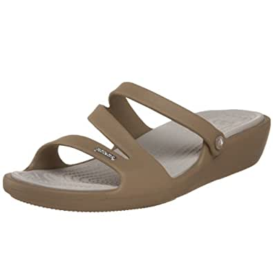 c91af32f678 crocs Women s Patricia Khaki and Pearl White Rubber Fashion Sandals - W4