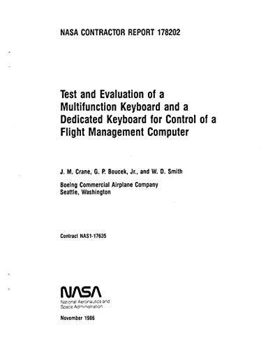 Test and evaluation of a multifunction keyboard and a dedicated keyboard for control of a flight management computer (English Edition)