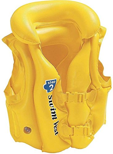 Premium Quality Delux Yellow Swimming Vest Life Jacket for Kids  available at amazon for Rs.345