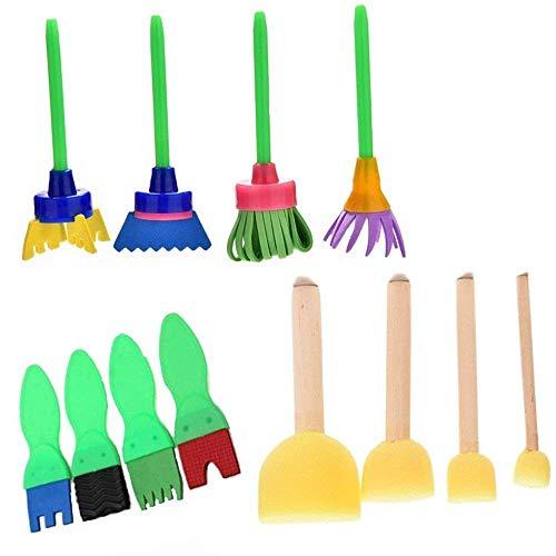 Zeichnen Werkzeuge Malen Schwamm Bürste für Vorschul Kinder Art Lehre und Creative Stempel Blumen Graffiti Schwamm Pinsel DIY Art Malerei Werkzeuge ()
