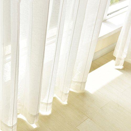 Cortina,Cortina Blanca Nórdica Cortina Vertical Language Weaver Salón Dormitorio Balcón Piso Cortinas-A 200x270cm(79x106inch)