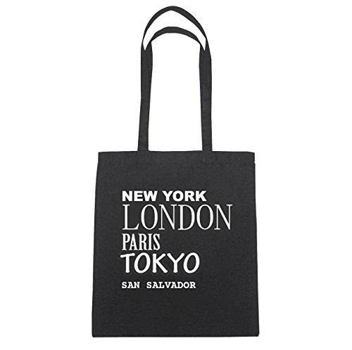 JOllify San Salvador di cotone felpato b4652 schwarz: New York, London, Paris, Tokyo schwarz: New York, London, Paris, Tokyo