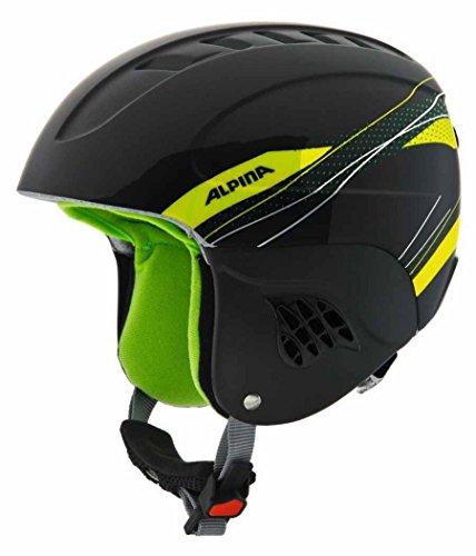 Alpina Kinder Skihelm Carat, Black/Green, 54-58 cm -