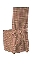 Dekoria Ikea Börje chair cover with decorative ties - small pink & green check