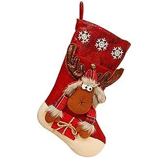 Westeng Calcetín de Decoraciones de Navidad Media de Navidad de Dulces Bolsa de Regalo Colgante de arbol de Navidad