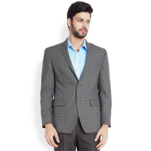 Park Avenue Dark Grey Checkered Men's Jacket