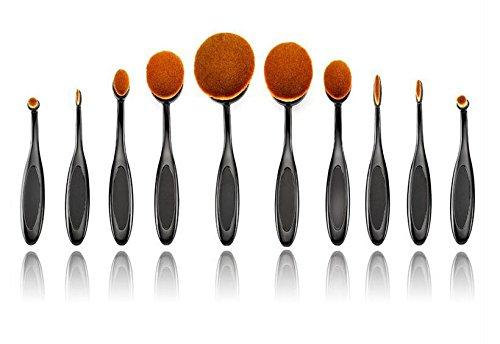 XUAN 10 brosse maquillage pinceau brosse brosse forme sourcils poudre de Fondation