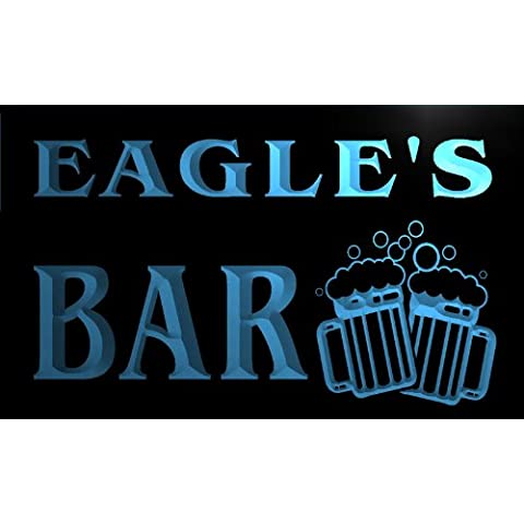 Cartel Luminoso w004123-b EAGLE Name Home Bar Pub Beer Mugs Cheers Neon Light Sign