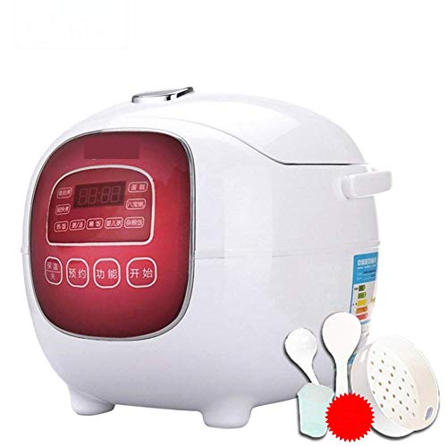1.6 l Mini-Reis-Herd, zu Hause smart kleinen Reiskocher 1-2-3 Person Single 4 Multifunktions-Reiskocher und Koch-Dampfer, langsamer Herd