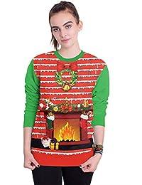 MTFS Damen Weihnachten Langarm Sweatshirts