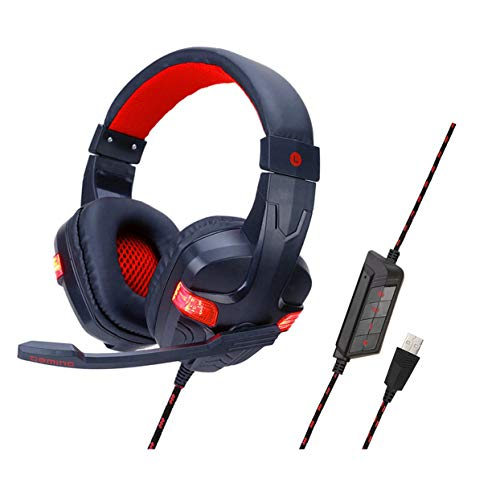 Tree-on-Life SY860MV 7.1-Kanal-Stereo-Gaming-Headset Abnehmbares USB-Control-Headset - Konsole 80 Ps3