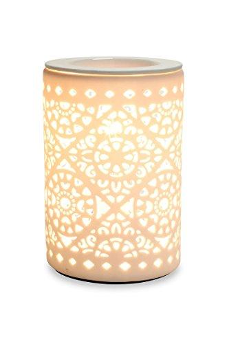 levandeo Elektrische Duftlampe Tischlampe Aromalampe Duftöl Licht Porzellan Ornamente Lampe Beleuchtung